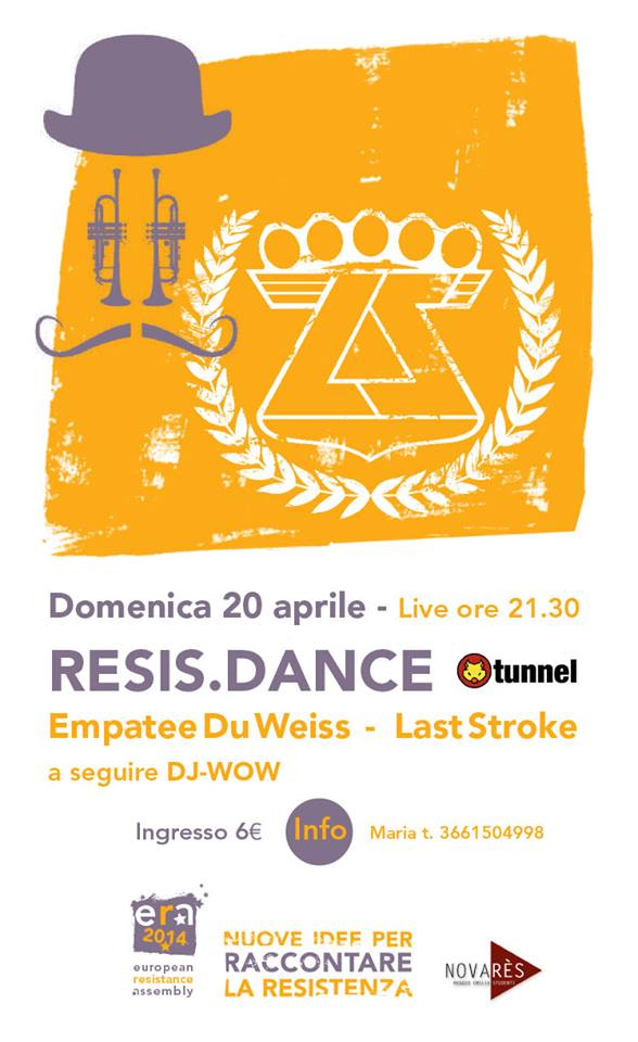 ARCI Tunnel per European Resistence Assembly - Reggio Emilia