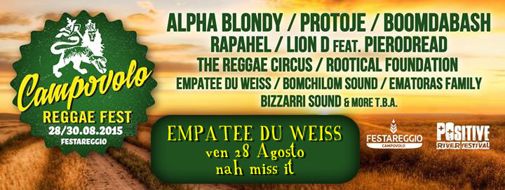 Campovolo - Opening Alpha Blondy and meny more